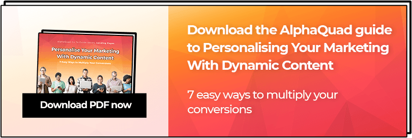 Personalise Your Marketing With Dynamic Content PDF download CTA